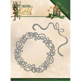 Die - ADD10181 - Christmas in gold - Couronne de Noël