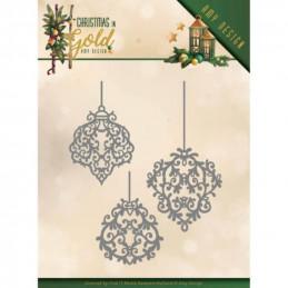 Die - ADD10184 - Christmas in gold - Décorations de Noël