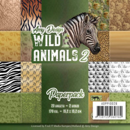 Bloc de papier - Amy Design - Wild animals n°2 15.2 x 15.2
