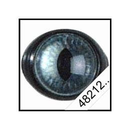 Yeux plastiques sécurité 12mm Oeil de chat bleu
