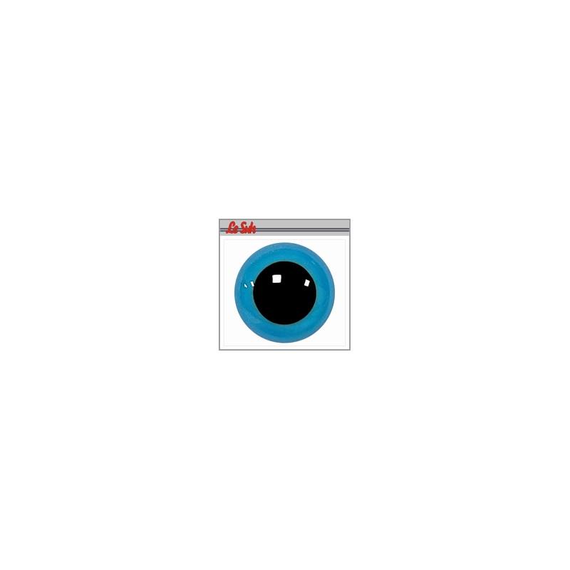 Yeux plastiques sécurité 10mm Oeil rond bleu avec pupille fixe