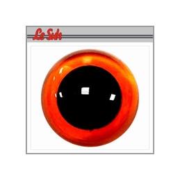 Yeux plastiques sécurité 12mm Oeil rond brun avec pupille fixe