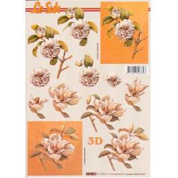 Carte 3D à découper - Fleurs blanches - 4169758