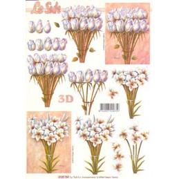 Carte 3D à découper - Tulipes blanches - 4169764