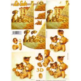 Carte 3D à découper - Chiots et oursons - 4169824
