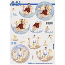 Carte 3D à découper - Angelots - 4169851