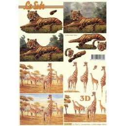 Carte 3D à découper - Tigres et girafes - 4169869