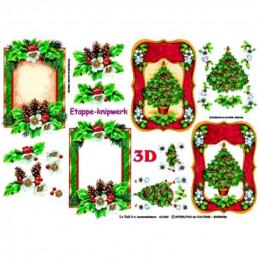 Carte 3D à découper - Sapin encadré - 416989