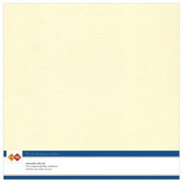 Papier Scrap 30.5x30.5 cm uni Crème la feuille