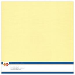 Papier Scrap 30.5x30.5 cm uni Jaune clair la feuille