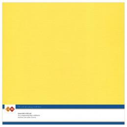 Papier Scrap 30.5x30.5 cm uni Jaune canari la feuille