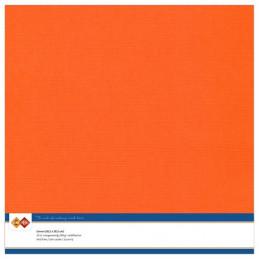 Papier Scrap 30.5x30.5 cm uni Orange la feuille