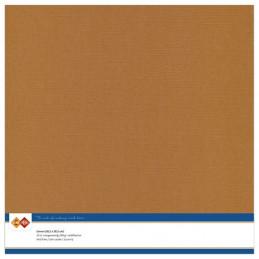 Papier Scrap 30.5x30.5 cm uni Café la feuille
