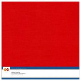 Papier Scrap 30.5x30.5 cm uni Rouge la feuille