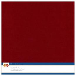 Papier Scrap 30.5x30.5 cm uni Bordeaux la feuille