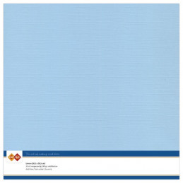 Papier Scrap 30.5x30.5 cm uni Bleu doux la feuille