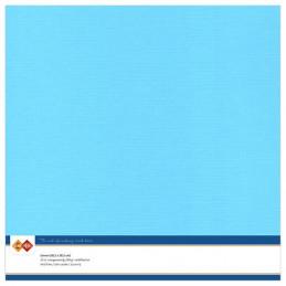 Papier Scrap 30.5x30.5 cm uni Bleu ciel la feuille