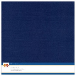 Papier Scrap 30.5x30.5 cm uni Bleu foncé la feuille