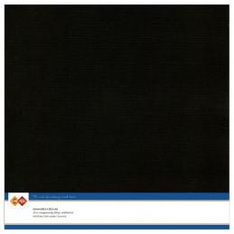 Papier Scrap 30.5x30.5 cm uni Noir la feuille