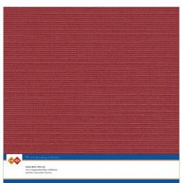 Papier Scrap 30.5x30.5 cm uni Rouge Noël la feuille