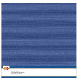 Papier Scrap 30.5x30.5 cm uni Bleu outremer la feuille