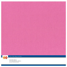 Papier Scrap 30.5x30.5 cm uni Rose dur la feuille