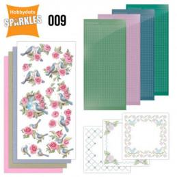Kit Sparkles Set 9 - Oiseaux et roses