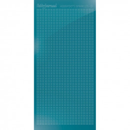 Hobbydots sticker Sparkles 01 Miroir Turquoise
