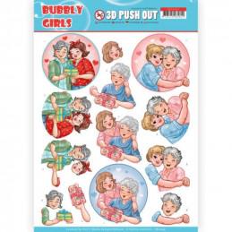 Carte 3D prédéc. - SB10345 - Bubbly Girls - Fête des mères