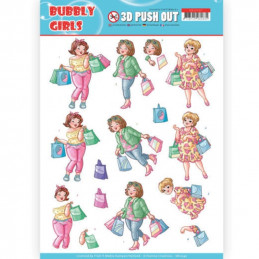 Carte 3D prédéc. - SB10347 - Bubbly Girls - Shopping