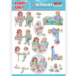 Carte 3D prédéc. - SB10348 - Bubbly Girls - Entre amies