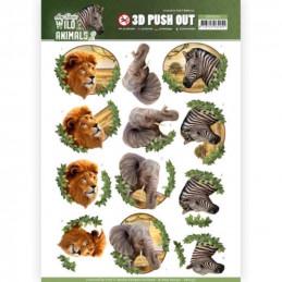 Carte 3D prédéc. - SB10351 - Wild Animals - Afrique