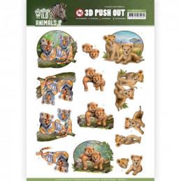 Carte 3D prédéc. - SB10352 - Wild Animals - bébés fauves
