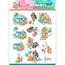 Carte 3D prédéc. - SB10361 - Happy Tropics - Vacances tropicales