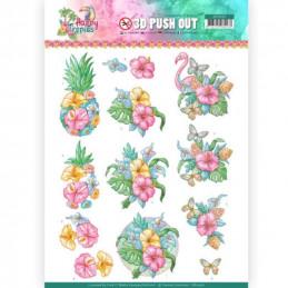 Carte 3D prédéc. - SB10362 - Happy Tropics - Fleurs tropicales