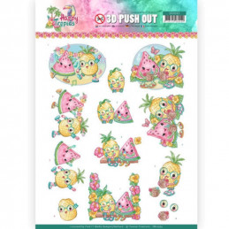 Carte 3D prédéc. - SB10363 - Happy Tropics - Fruits tropicaux