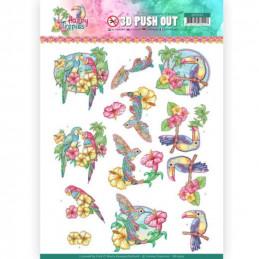 Carte 3D prédéc. - SB10364 - Happy Tropics - Oiseaux tropicaux