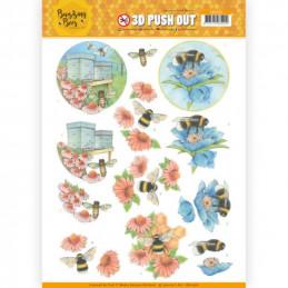 Carte 3D prédéc. - SB10366 -  Buzzing Bees - Abeilles au travail