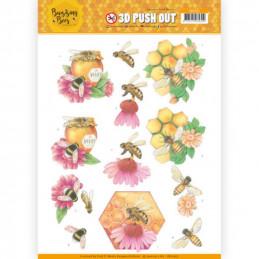 Carte 3D prédéc. - SB10367 -  Buzzing Bees - Abeilles et miel