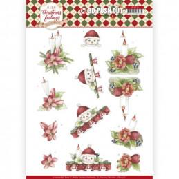 Carte 3D prédéc. - SB10376 - Warm Christmas Feelings - Bougies de Noël