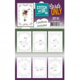 Cartes seules Stitch and do A6 - Set n°01