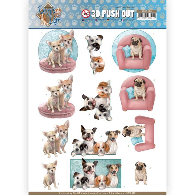 Carte 3D prédéc. - SB10378 -  Dog's Life - Chiens