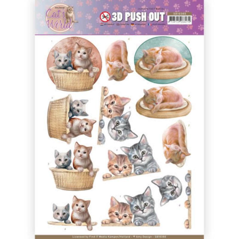 Carte 3D prédéc. - SB10380 - Cats World - Chats