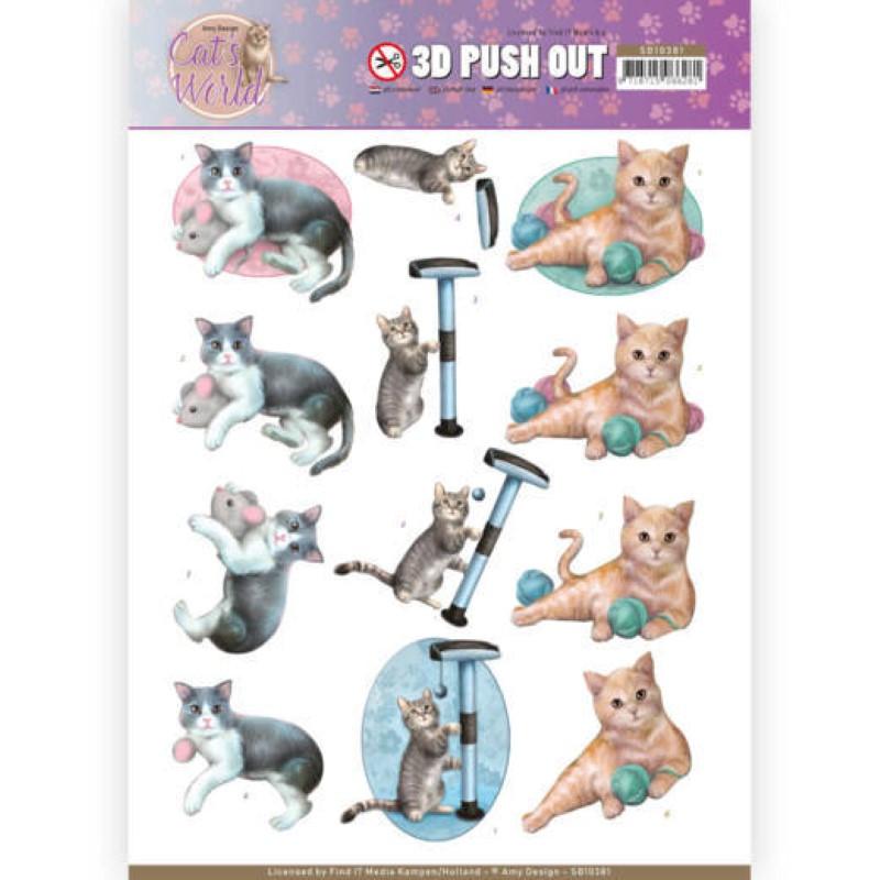 Carte 3D prédéc. - SB10381 - Cats World - Chats joueurs