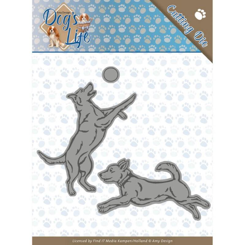 Die - ADD10190 -  Dog's life - Chiens joueurs