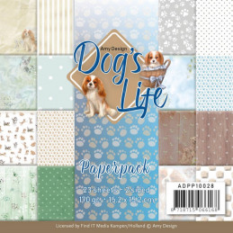 Bloc de papier - Amy Design - Dog's life 15.2 x 15.2