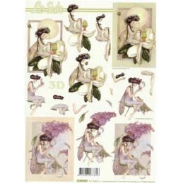 Carte 3D à découper - Femmes assisses - 4169967
