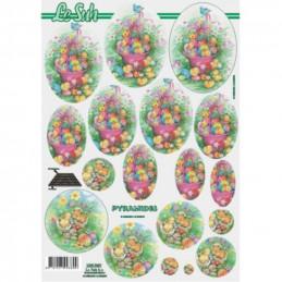 Carte 3D à découper - Pâques - 630030