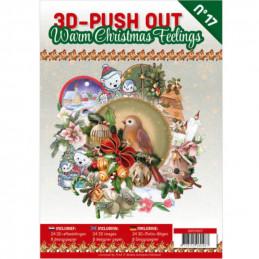 Carte 3D livre A4 prédécoupé - Noël chaleureux 24 images + papiers
