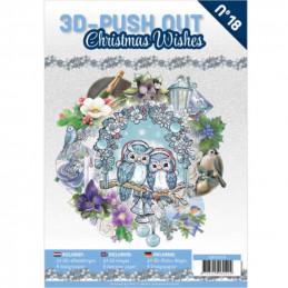 Carte 3D livre A4 prédécoupé - Souhaits de Noël 24 images + papiers